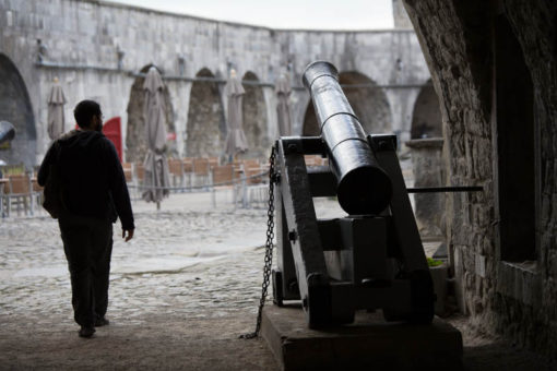 cannons in the Citadel of Dinant