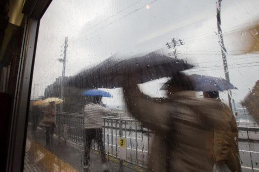 Autumn rain in Japan