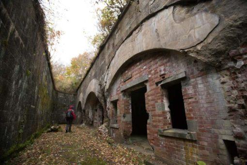 Ruins from World War II battery in mt Hakodate, Japan