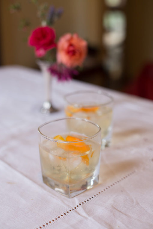 Champagne with orange