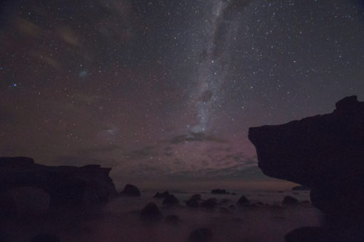 Glimpse of an Aurora Australis at Cape Paterson, Victoria, Australia ©Erika's Way Photography