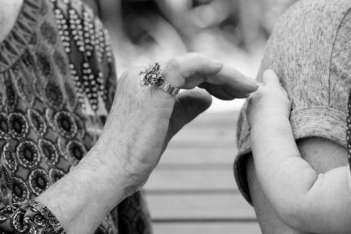Great Grandma's hands copyright Erika's Way Photography