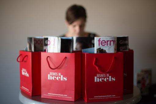 Business in Heels bags. ©Erika's Way Photography