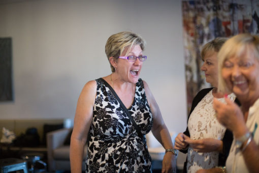 Laughing, networking and sharing life experiences. ©Erika's Way Photography