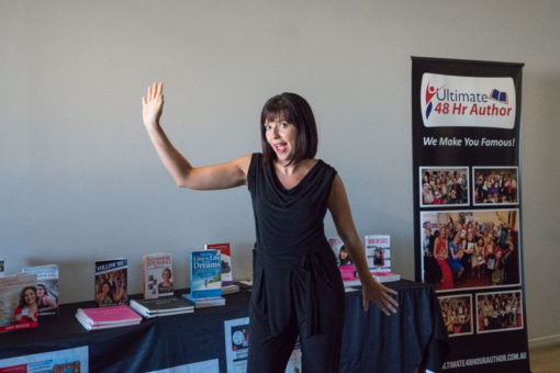 Author Natasa Denman getting ready for the night meeting with Business in Heels. ©Erika's Way Photography