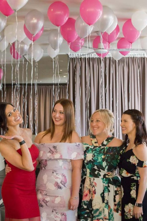 Bride and bridesmaids at the Engagement Party at Daveys Hotel, Frankston, Mornington Peninsula Vic. Copyright Erika's Way Photography