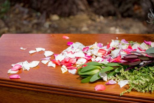 Rose Petals as last goodbye