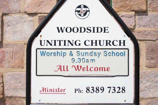 Woodside Uniting Church sign. ©Erika's Way Photography