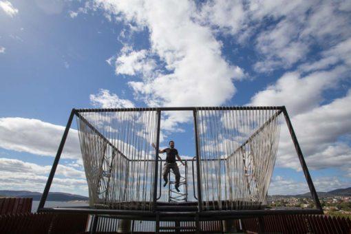 jumping at MONA Museum, Hobart, Tasmania ©Erika's Way Photography