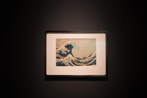 Under the Wave off Kanagawa (Kanagawa oki nami ura), also known as The Great Wave, from the series Thirty-six Views of Mount Fuji (Fugaku sanjūrokkei), at MONA, Hobart, copyright Erika's Way