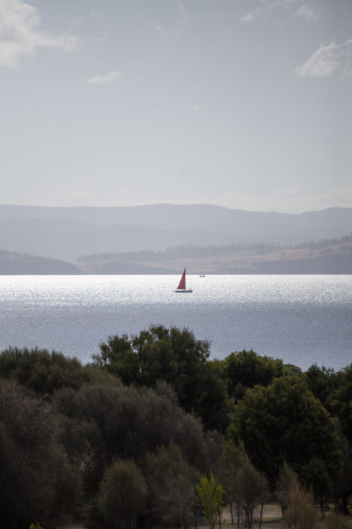 a sailing boat Between Maria Island and Tasmania East Coast photo by Erika's Way Photography