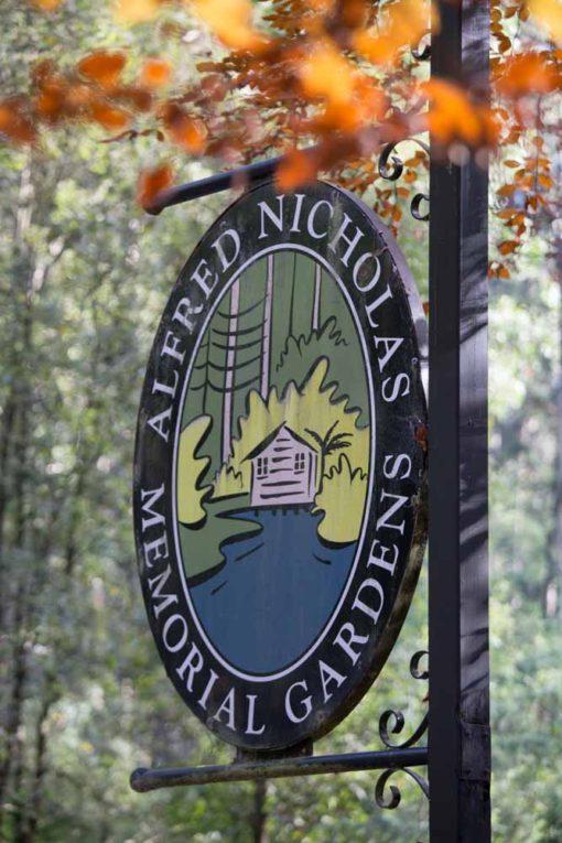 Alfred Nicholas Garden sign