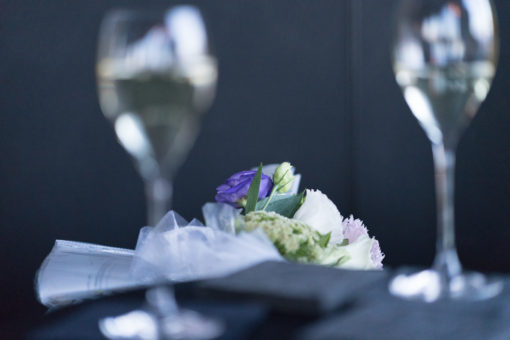 bubbles prosecco and bouquet