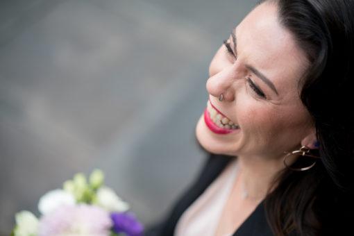 Laughing Bride. Photo bu Erika's Way Photography, Melbourne based Wedding and Family Photographer