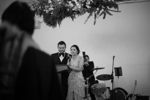 Wedding Speeches. Abbotsford Convent Wedding, Melbourne, Vic