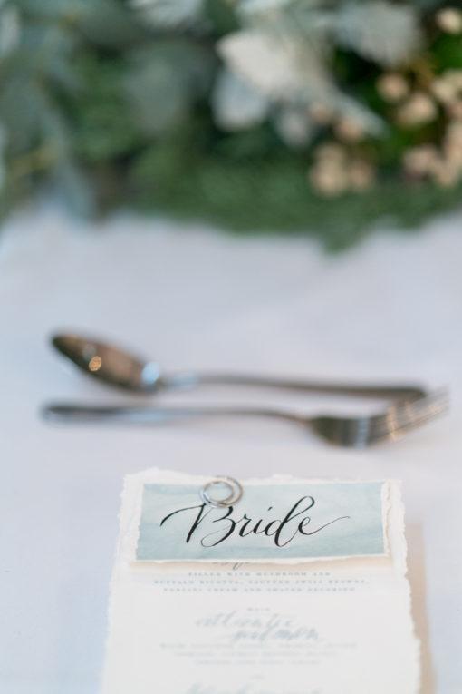 Bride sign in light blue colour