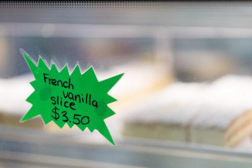 Vanilla slices from Belgrave Bakery