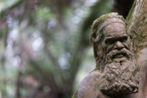 Clay sculptures at William Ricketts Sanctuary