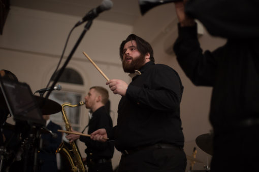 Band playing at the Wedding