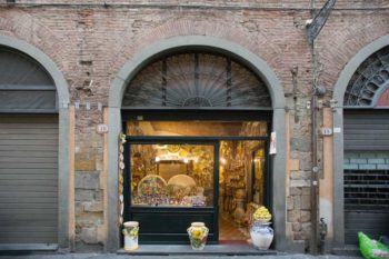 artisan shop in Lucca, Italy