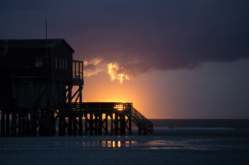 sunset from Sankt Peter-Ording ©Erika's Way Photography