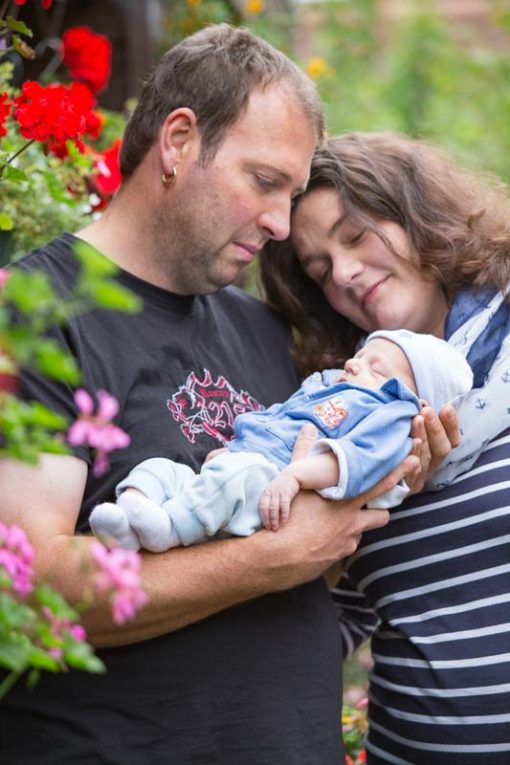 Mum and Dad and New born Baby ©Erika's Way Photography
