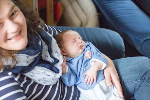 Baby Hannes sleeping in his Mum's arms ©Erika's Way Photography