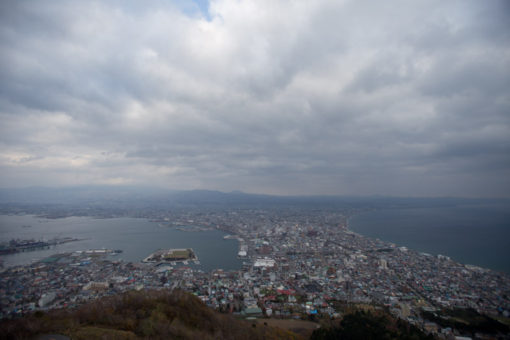 Hakodate, Japan, view of the city from mt Hakodate