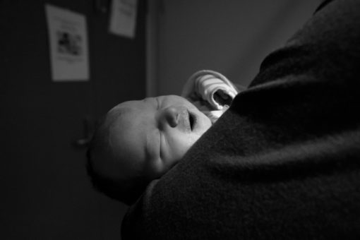 Black and white new born photography