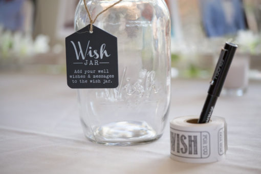 Engagement party with jar with stickers. Copyright Erika's Way Photography