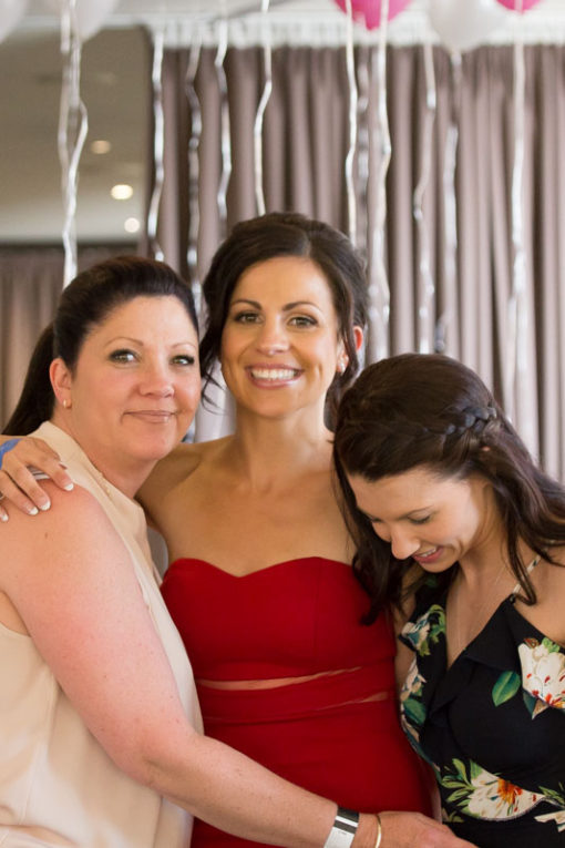 Bride with Mum and Sister at the Engagement Party. Copyright Erika's Way Photography. Wedding and Engagement Photographer in Frankston, Vic
