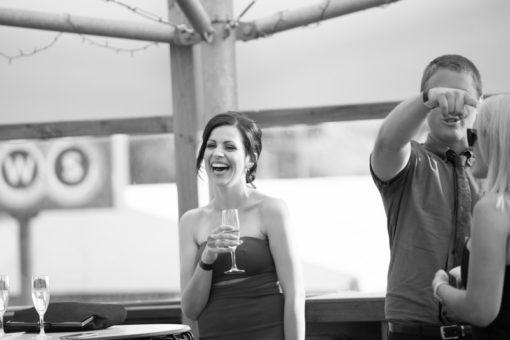 Happy bride. Candid shot at the Engagement Party at Daveys Hotel in Frankston. Copyright Erika's Way Photography