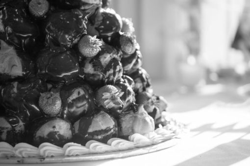 Profiteroles cake for an Engagement