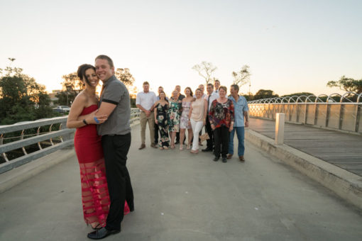 Bride and groom and their family. Copyright Erika's Way Photography
