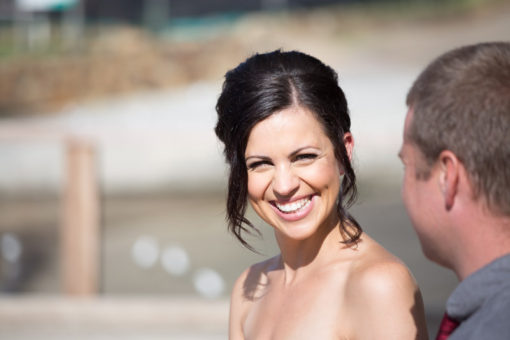 Beautiful bride to be smiling at her Engagement Party. Copyright Erika's Way Photography