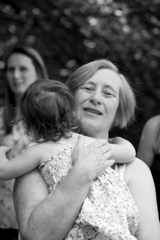 Granddaughter hugging her Nana. ©Erika's Way Photography