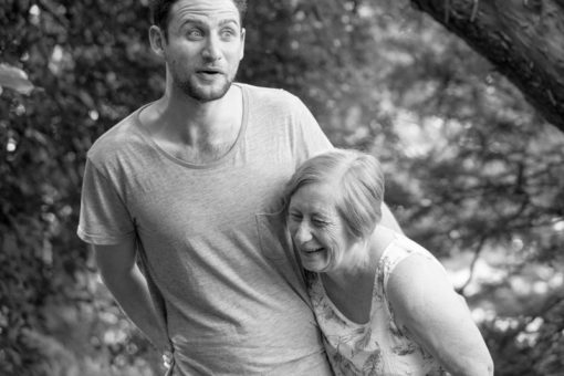 Mum and son: funny photo that describes how beautiful it's their relationship. Family Photography in the Dandenong Rnages. ©Erika's Way Photography