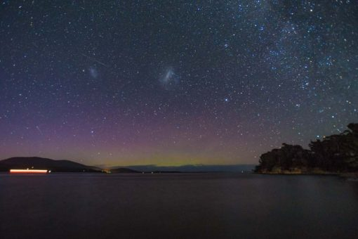 Tasmania southern lights photo by Erika's Way Photography