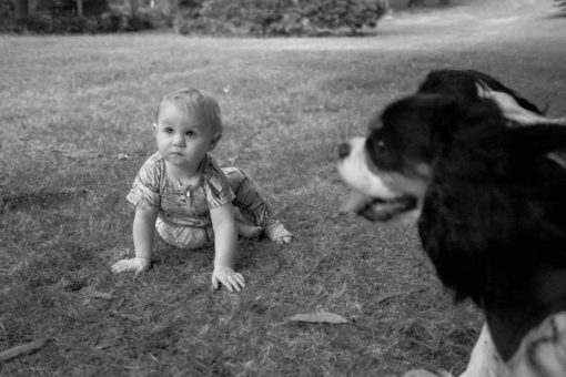 Baby Emmeline and her dog