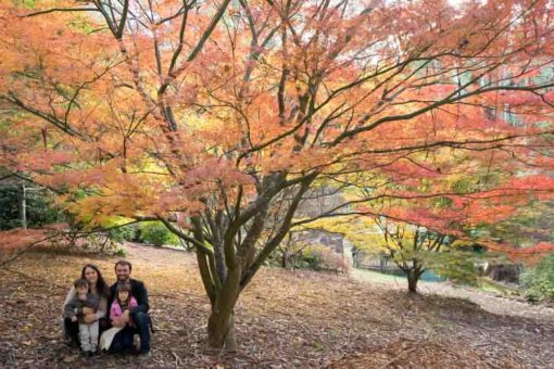 family Photo shooting in the Hills with autumn colours