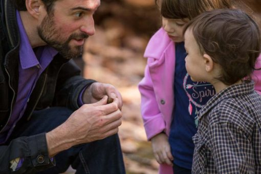 Learning and discovering with Dad at the Park. Photo by Erika's Way Photography