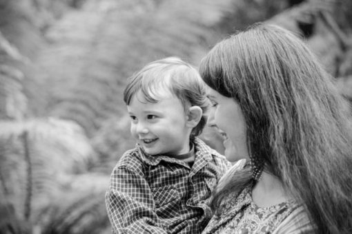 Mother holding her son at the Park in the Dandenong Ranges