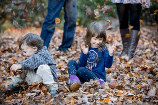 Autumn leaves fight with Mum and Dad