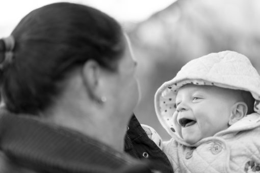 5 months old Baby boy smiling at his beautiful Mum. Photo by Erika's Way Photography