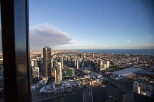 Stunning View of Melbourne from The Lui Bar