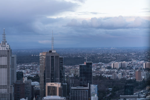 View of Melbourne after the storm