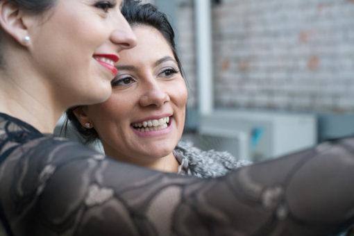 Selfie between the Bride and her best Friend