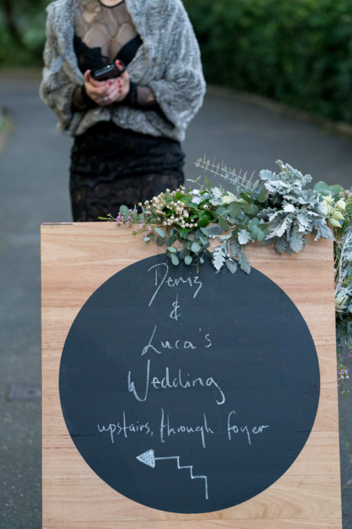 Wedding sign for the guests