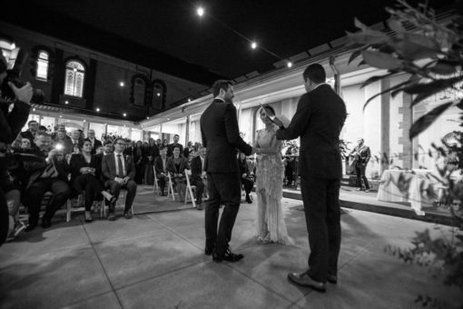 Stunning night Wedding at Abbotsford Convent, Melbourne, Vic. By Erika's Way Wedding Photography