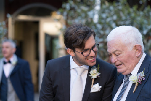brother of the Groom and the 'Nonno' from Italy